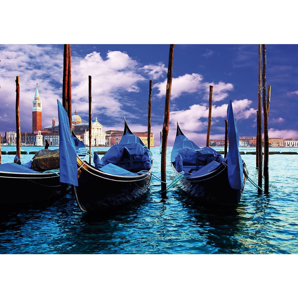 Fototapete no. 1580 | Vlies | Venedig Tapete Gondeln Wasser Himmel blau Motiv 1580