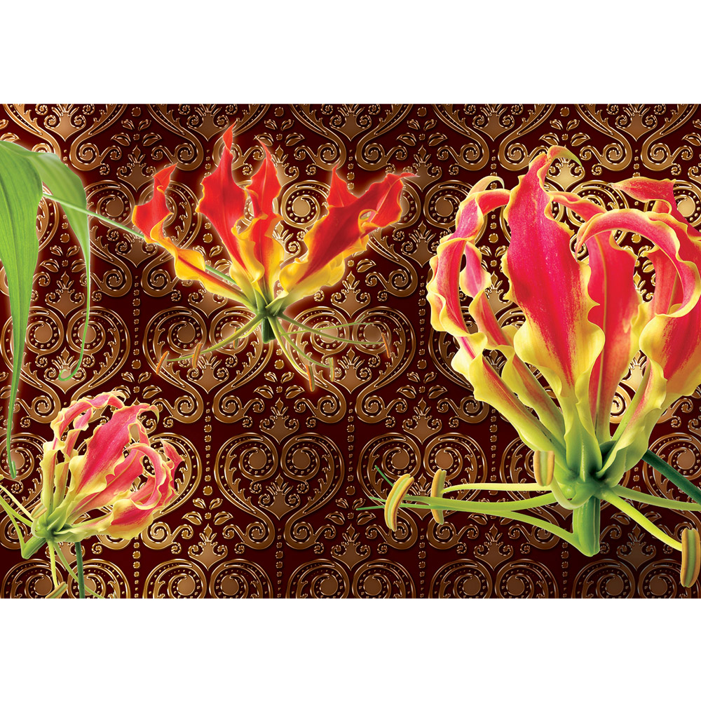 Fototapete no. 1595 | Vlies | Blumen Tapete Blume Blüten Blätter Ornamente Motiv 1595