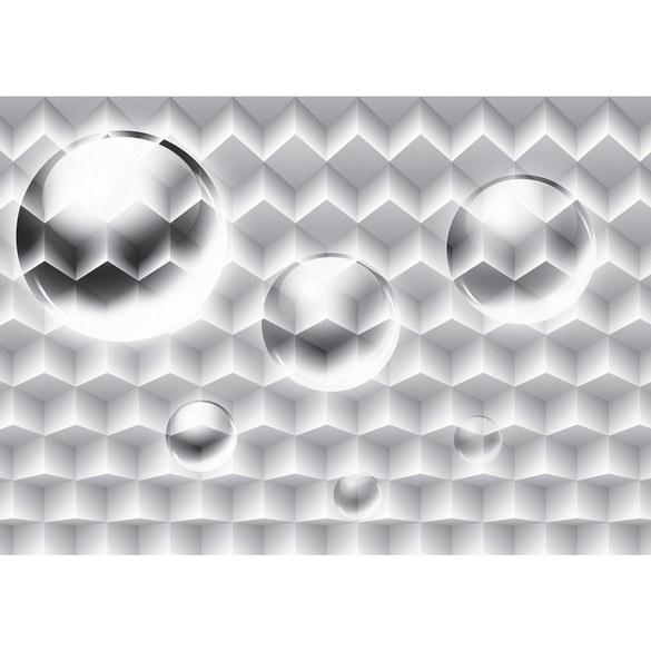 Fototapete no. 1645 | Vlies | 3D Tapete Bubble Muster Vierecke Illustration Motiv 1645
