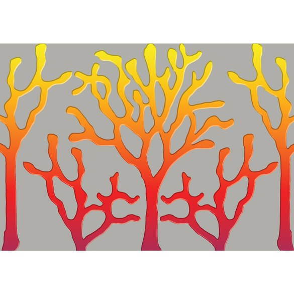 Fototapete no. 1689 | Vlies | Kunst Tapete Abstrakt Bäume Linien grau Motiv 1689
