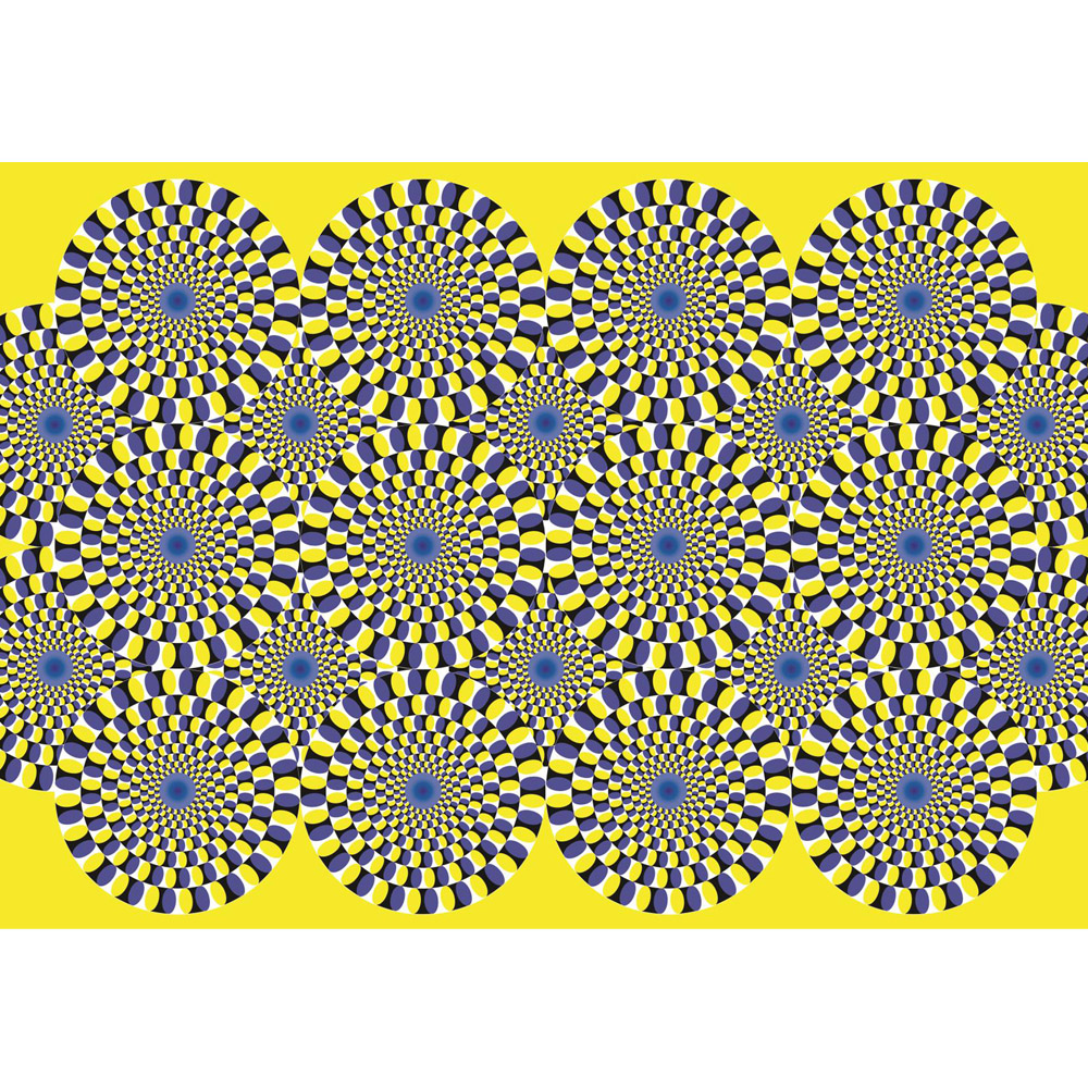 Fototapete no. 1691 | Vlies | Kunst Tapete Abstrakt optische Täuschung Kreise Motiv 1691