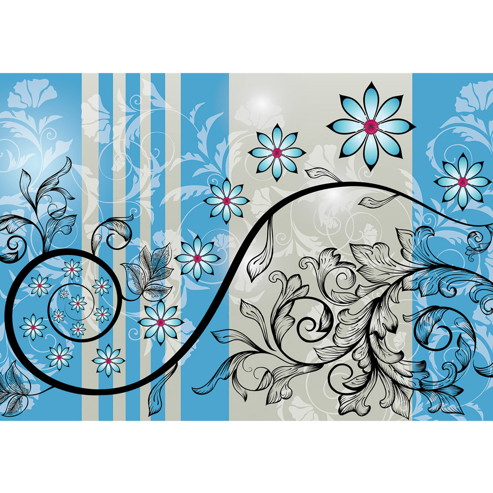 Fototapete no. 1702 | Vlies | Illustrationen Tapete Illustration Blume Ornamente Motiv 1702
