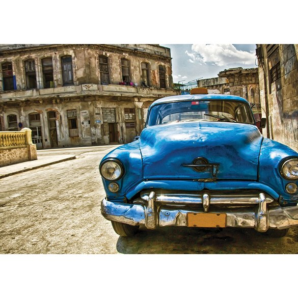 Mural no. 1709 | Non-woven or Paper | cars wallpaper trappie vintage building