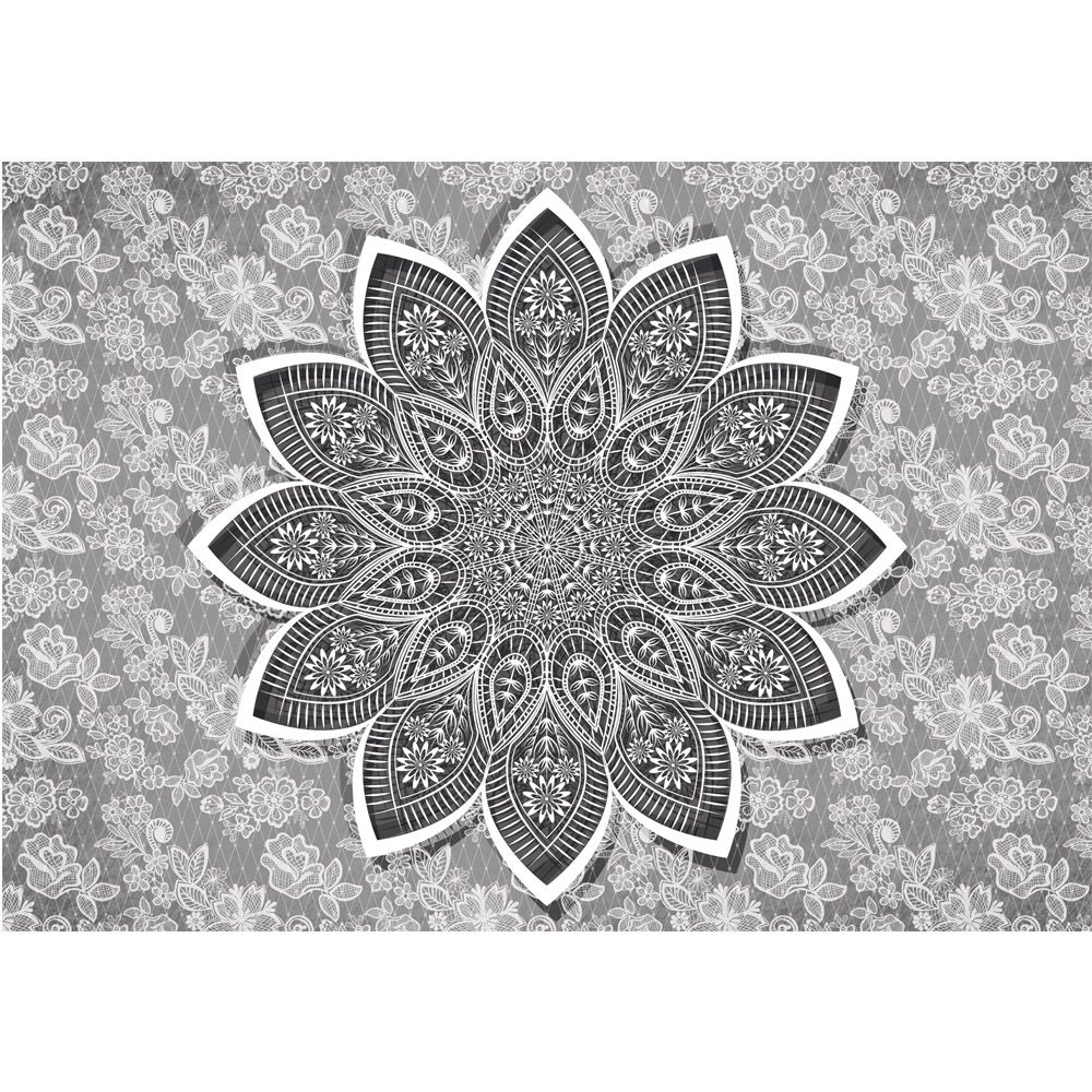 Fototapete no. 1739 | Vlies | Illustrationen Tapete Mandala Illustration Blume Motiv 1739