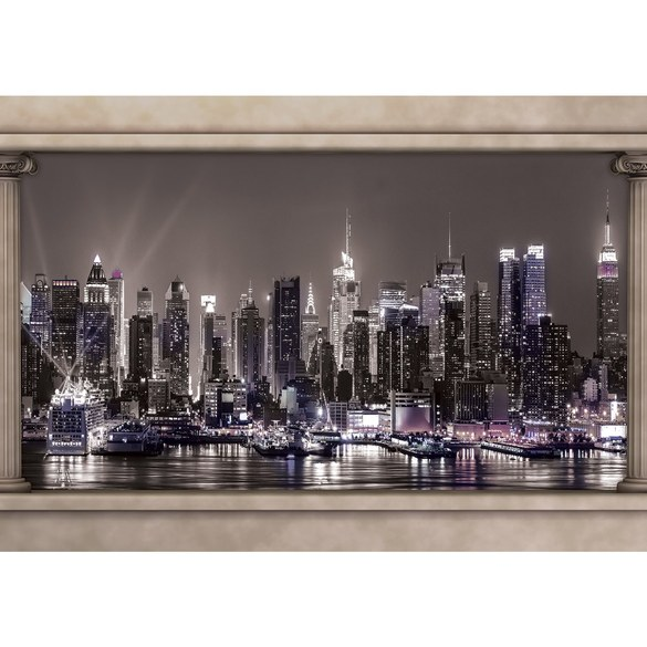 Mural no. 1753 | Non-woven or Paper | skylines wallpaper night city countries