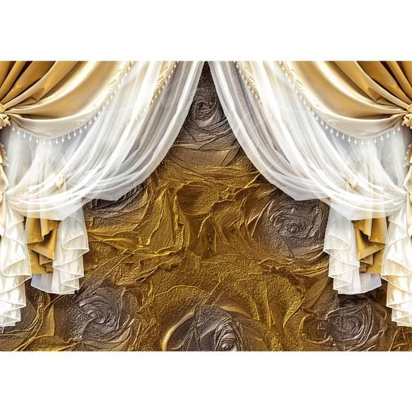 Fototapete no. 1779 | Vlies | Kunst Tapete Vorhang Gardine Muster Rose Textur Motiv 1779