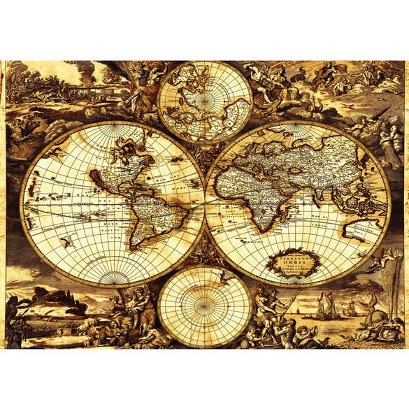 Fototapete no. 1793 | Vlies | Geographie Tapete Welt Geografie Vintage Geschichte Motiv 1793
