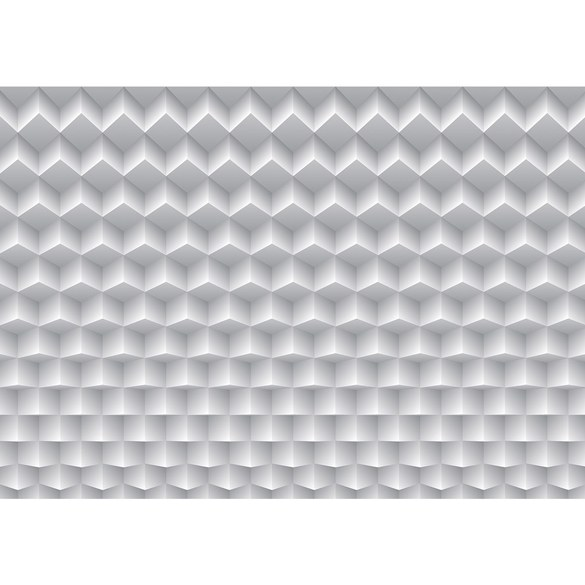 Non-woven Mural no. 1875 | 3D Wallpaper rectangles pattern illustration white Motiv