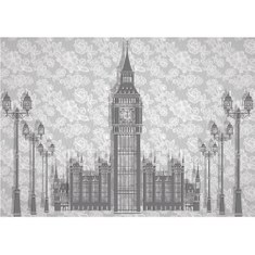 Mural no. 2024 | Non-woven or Paper | illustrations wallpaper vintage