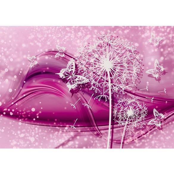 Fototapete no. 2056   Vlies   Ornamente Tapete Blume Pusteblume Schmetterling Motiv 2056