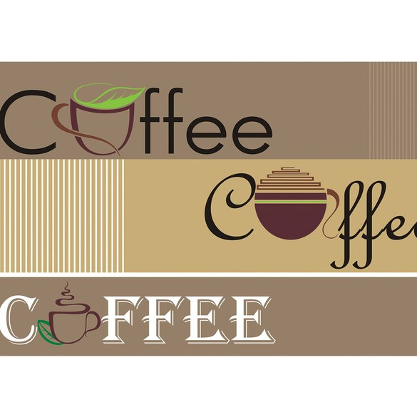 Mural no. 2063 | Non-woven or Paper | font art wallpaper lettering coffee