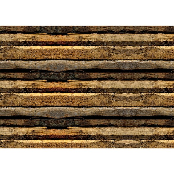 Mural no. 2139 | Non-woven or Paper | wood wallpaper strips ledges wall
