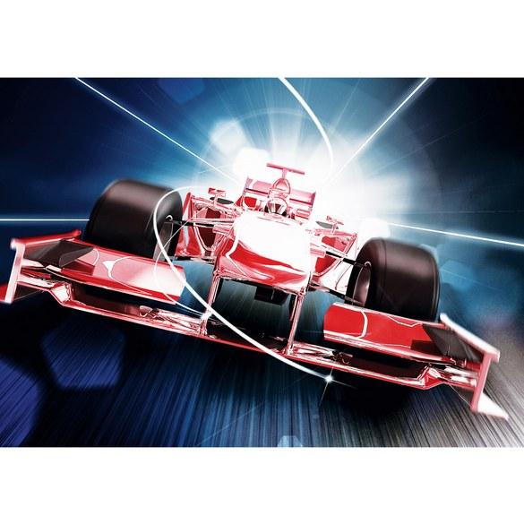 Non-woven Mural no. 2152 | Autos Tapete Auto Formel 1 Rennwagen Speed Tunnelblick rot Motiv