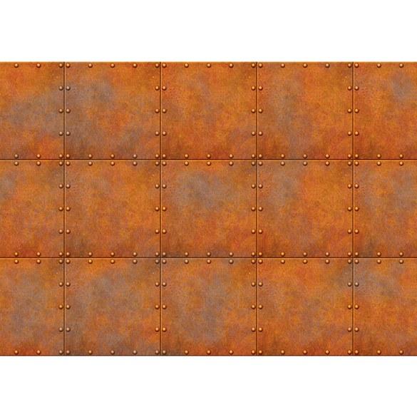 Fototapete no. 2233 | Vlies | Texturen Tapete Kacheln Metalloptik Punkte orange Motiv 2233