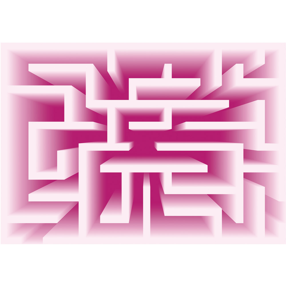 Fototapete no. 2234 | Vlies | Kunst Tapete Abstrakt Labyrinth Linien pink Motiv 2234