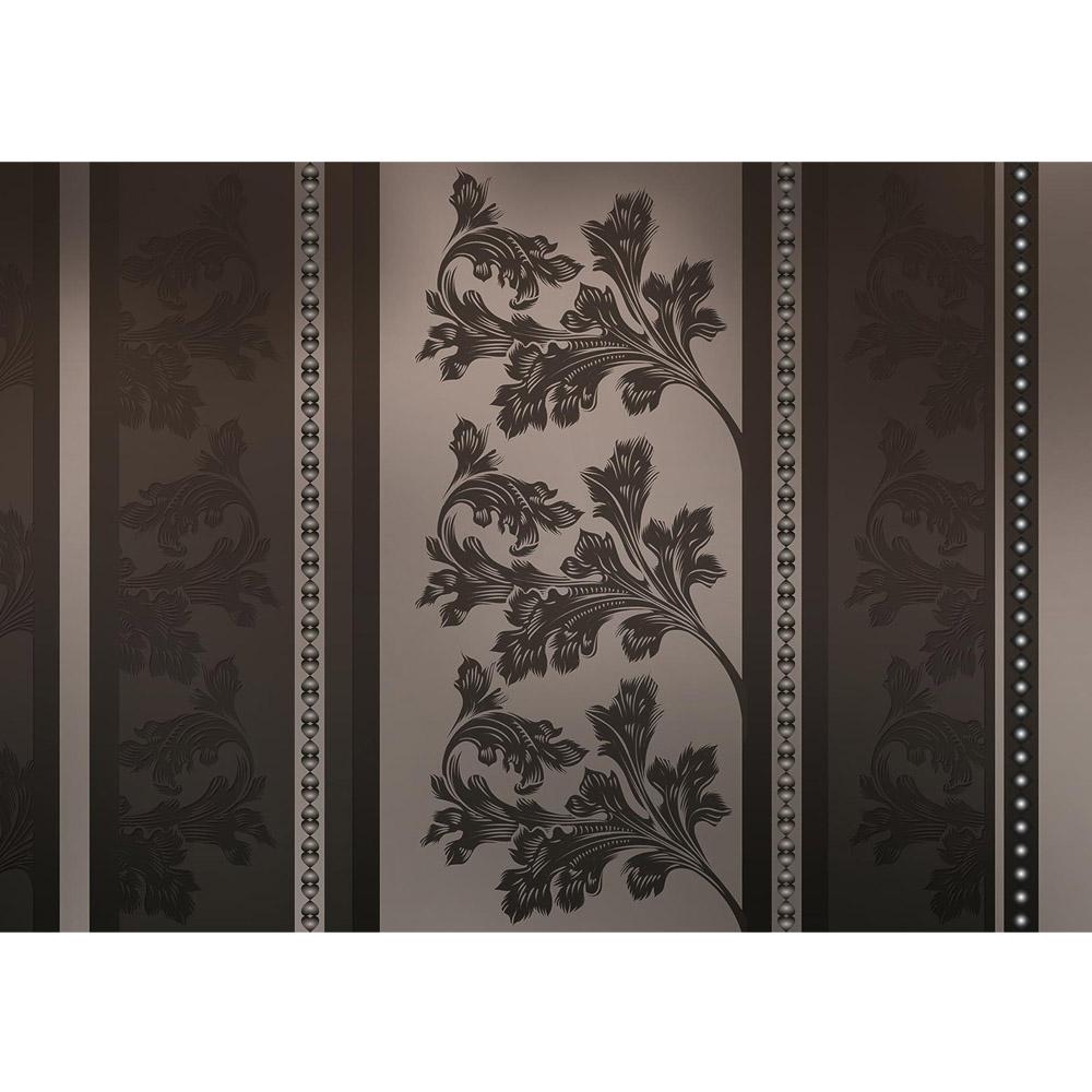 Fototapete no. 2240 | Vlies | Kunst Tapete Blumen Blüten Blätter Kacheln Streifen Motiv 2240