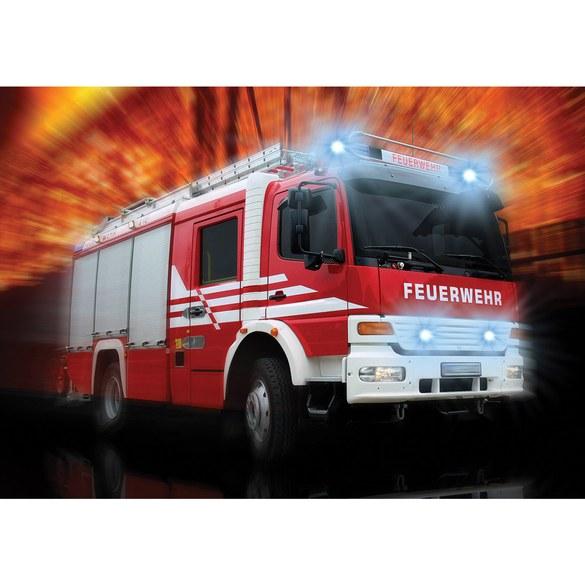 Non-woven Mural no. 2242 | Car wallpaper Fire Department fire engine car lights flashing red Motiv