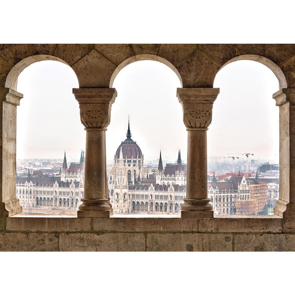 Fototapete no. 2306 | Vlies | Architektur Tapete Stadt Gebäude Fenster Säulen Motiv 2306