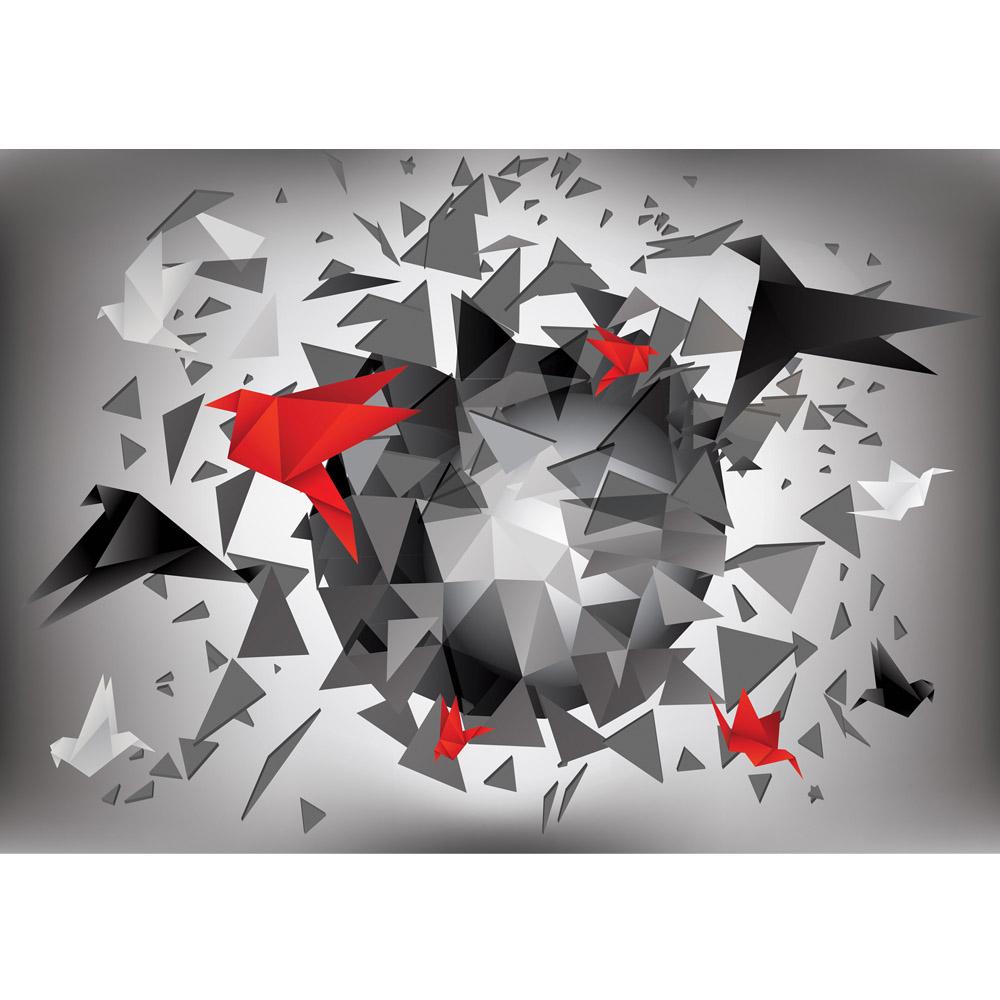 Fototapete no. 2372   Vlies   Kunst Tapete Abstrakt Design Dreiecke Origami Motiv 2372