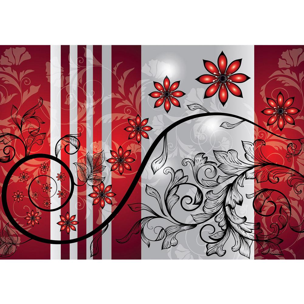 Fototapete no. 2390 | Vlies | Ornamente Tapete Blumen Blüte Ranke Blätter Streifen Motiv 2390