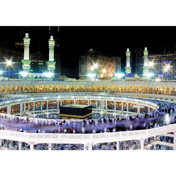 Fototapete no. 2539 | Vlies | Architektur Tapete Moschee Mekka Lightning Menschen Motiv 2539