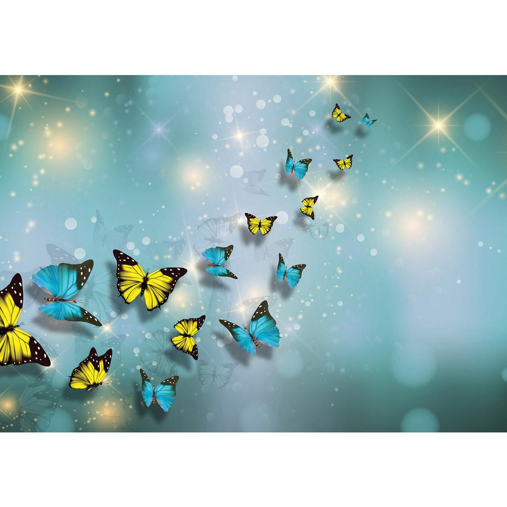 Fototapete no. 2560 | Vlies | Tiere Tapete Schmetterlinge Kunst Punkte Licht Motiv 2560
