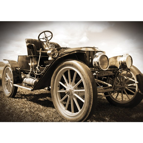 Mural no. 2571 | Non-woven or Paper | cars wallpaper vintage car sepia