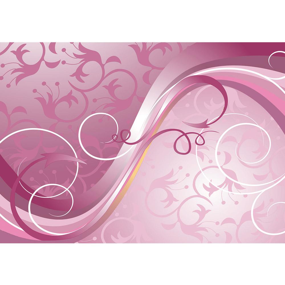 Fototapete no. 2577   Vlies   Kunst Tapete Schnörkel Ranken Blumen Blüten rosa Motiv 2577