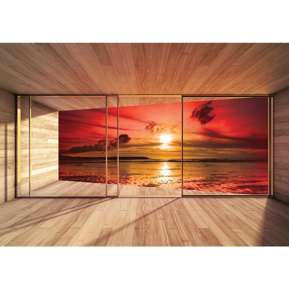 Fototapete no. 2676 | Vlies | Holz Tapete Holzoptik Rahmen Fenster ...