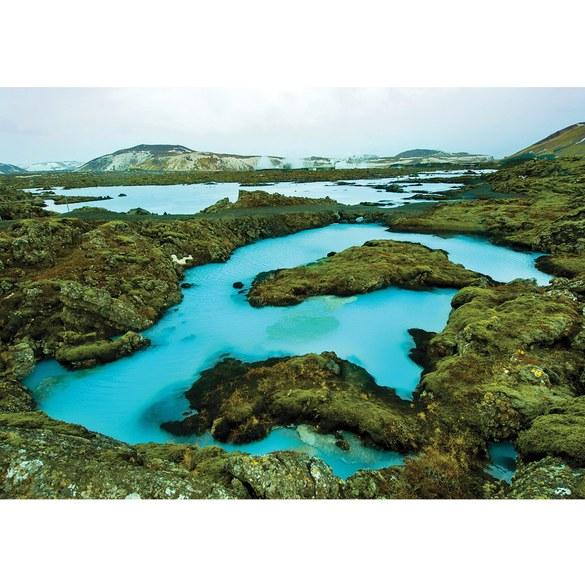 Fototapete no. 2694 | Vlies | Landschaft Tapete Island Wasser Berge Natur Stein Motiv 2694