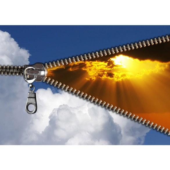Fototapete no. 2701 | Vlies | Sonnenaufgang Tapete Reißverschluss Himmel Wolken Motiv 2701