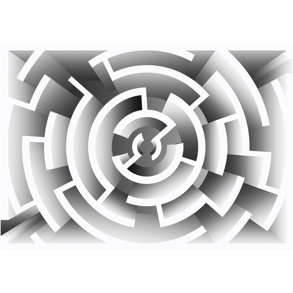 Fototapete no. 2774 | Vlies | Illustrationen Tapete Labyrinth Illustration Motiv 2774