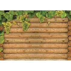Fototapete no. 2783 | Vlies | Holz Tapete Stamm Wein Weintrauben braun Motiv 2783