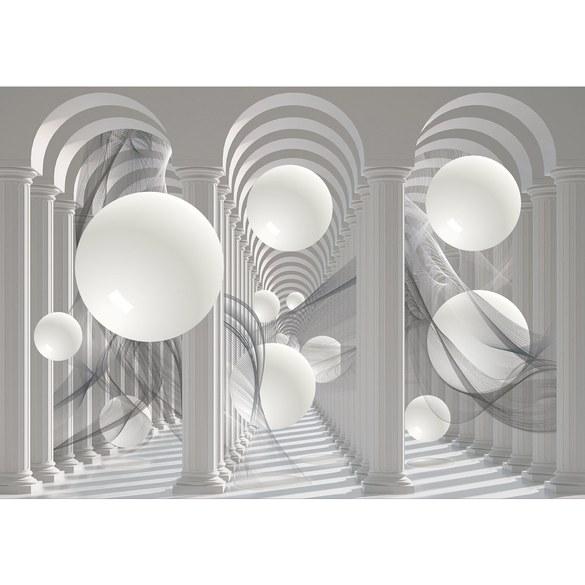 Fototapete no. 2905 | Vlies | Kunst Tapete Design Säulen Kugeln grau Motiv 2905
