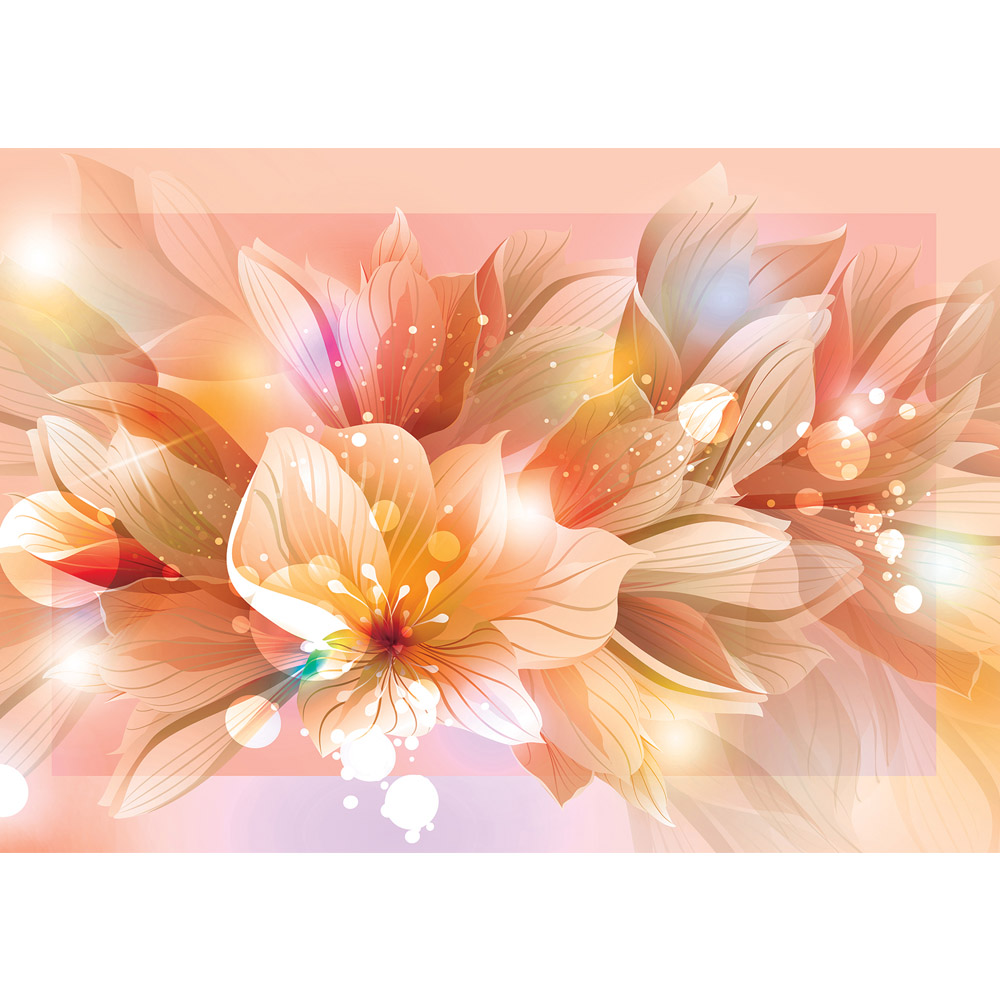 Fototapete no. 2939 | Vlies | Blumen Tapete Blüte Blätter Malerei Pflanze rosa Motiv 2939