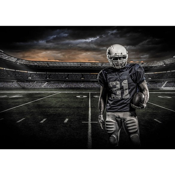 Fototapete no. 2961 | Vlies | Sport Tapete Football American Helm Wolken anthrazit Motiv 2961