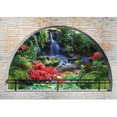Fototapete no. 2969 | Vlies | Natur Tapete Tropen Wasserfall Felsen Pflanzen Motiv 2969