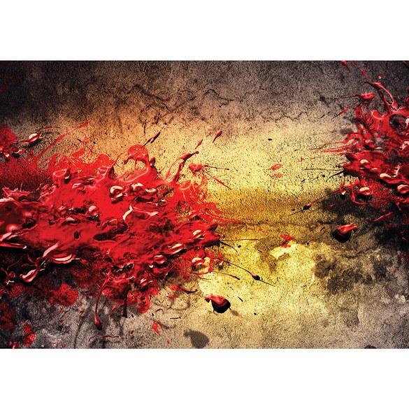 Fototapete no. 2977 | Vlies | Kunst Tapete Abstrakt Farbe Tupfer Steinwand Motiv 2977