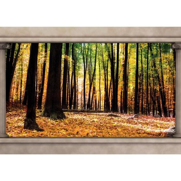 Fototapete no. 2997 | Vlies | Wald Tapete Herbst Bäume Natur Säulen braun Motiv 2997