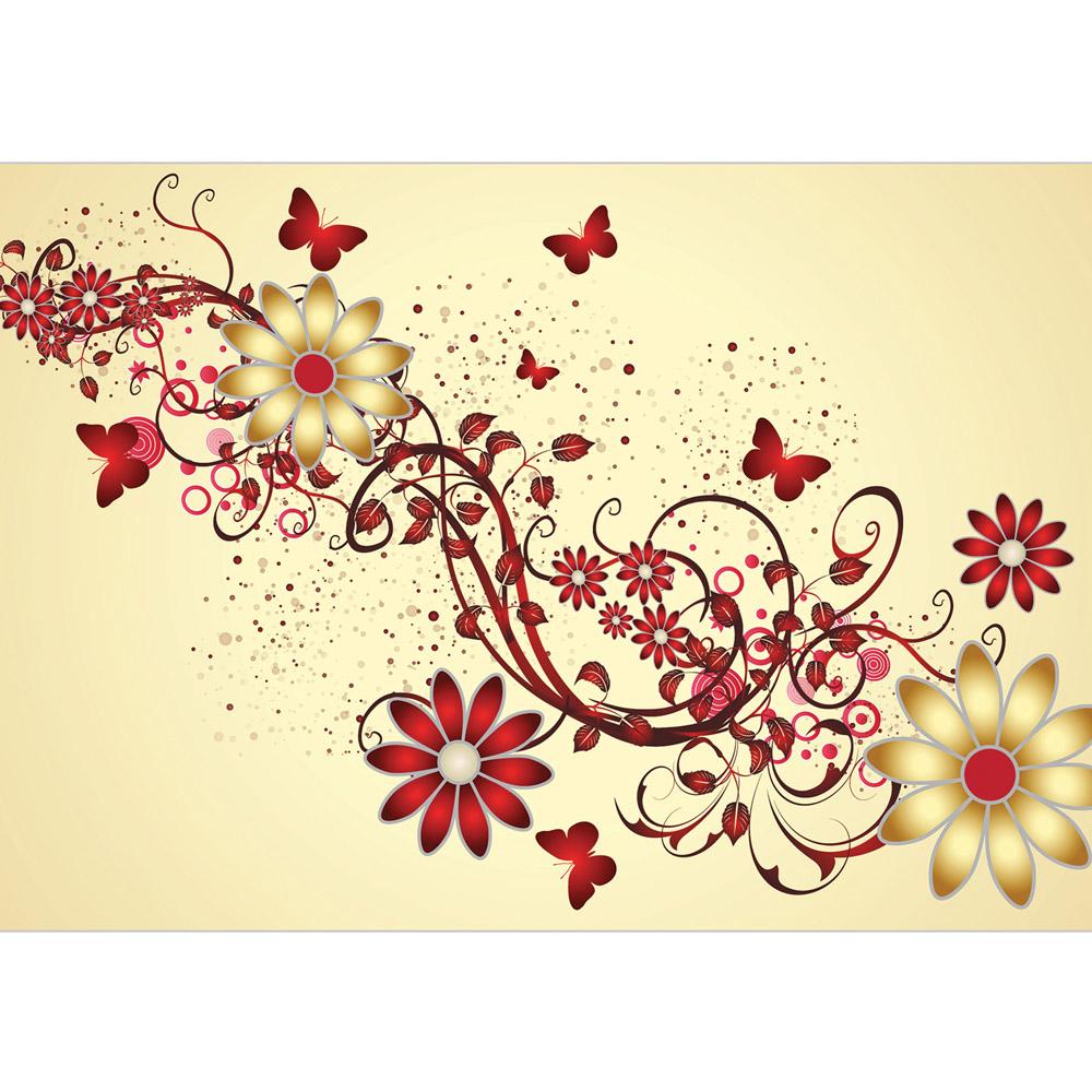 Fototapete no. 3084 | Vlies | Illustrationen Tapete Vektorgrafik Blumen Abstrakt Motiv 3084
