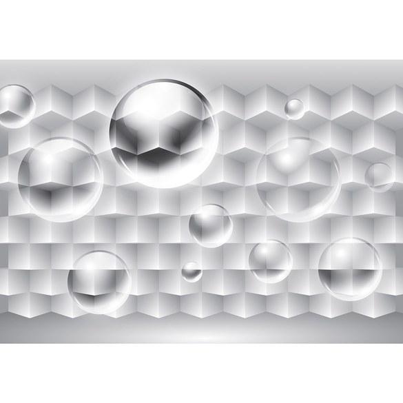 Fototapete no. 3094 | Vlies | 3D Tapete Rechtecke Illustration Bubble Muster Motiv 3094