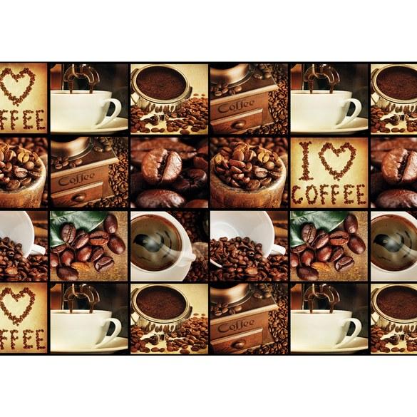 Fototapete no. 3142 | Vlies | Kaffee Tapete Fotoreihe Bohnen Trinken braun Motiv 3142