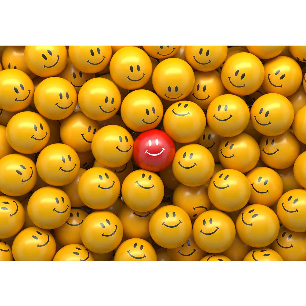 Fototapete no. 3147 | Vlies | 3D Tapete Smilie gelb Motiv 3147
