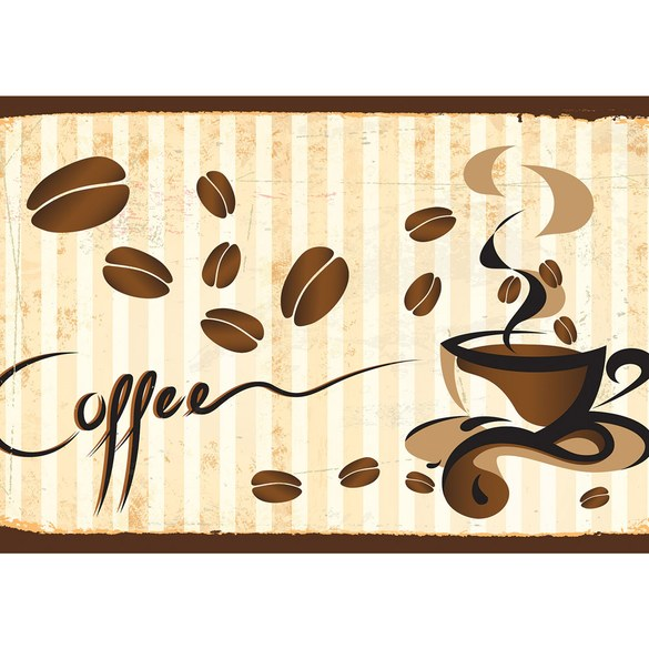 Mural no. 3170 | Non-woven or Paper | coffee wallpaper cup beans cafe