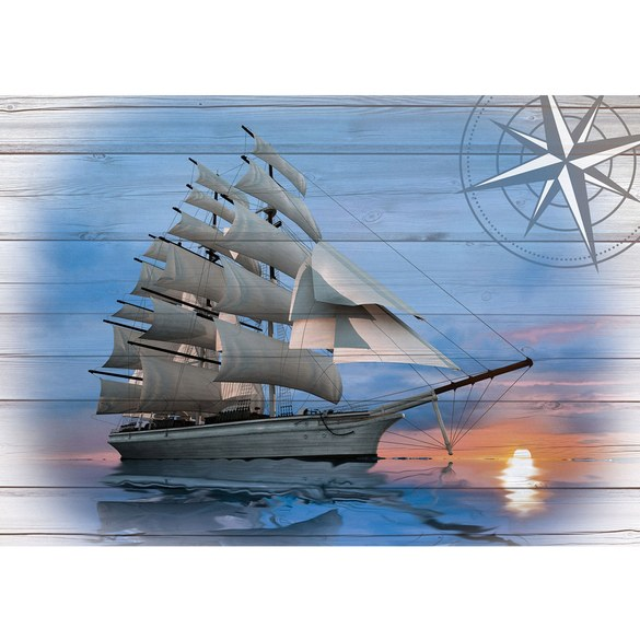 Mural no. 3183 | Non-woven or Paper | sea wallpaper sailing ship water