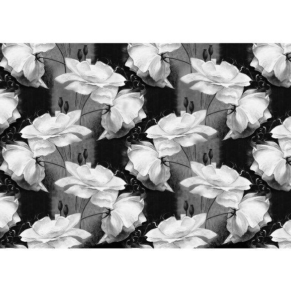 Mural no. 3184 | Non-woven or Paper | flowers wallpaper poppy floral pattern