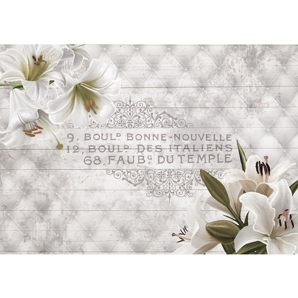 Mural no. 3194 | Non-woven or Paper | orchids wallpaper flowers ornaments