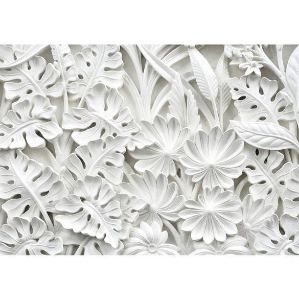 Mural no. 3195 | Non-woven or Paper | ornaments wallpaper leaves flowers