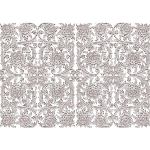 Fototapete no. 3208 | Vlies | OrnamenteTapete Blüten, Blätter, symmetrisch Motiv 3208