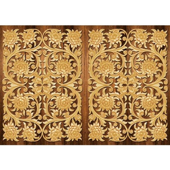 Fototapete no. 3209 | Vlies | OrnamenteTapete Blüten, Blätter, symmetrisch Motiv 3209